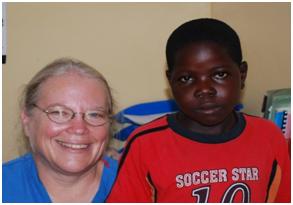 Dr. Kawira and Burkitt's Lymphoma patient after