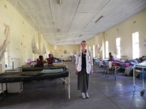 Brianna Moyer in Macha Hospital ward