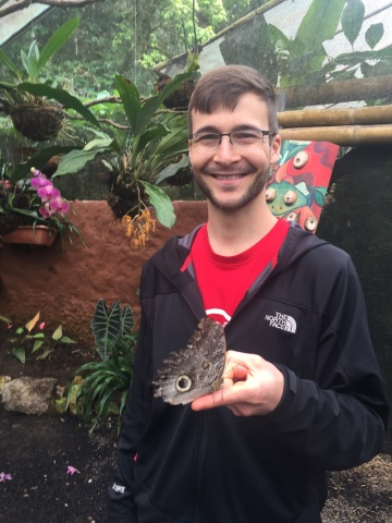Dan at butterfly garden