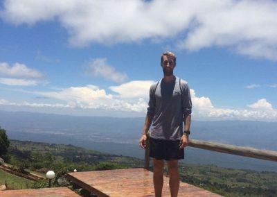 Matthew Glick in Iten, Kenya