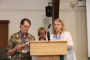 Clair Hochstetler, Susan Lanford, Charlene Epp