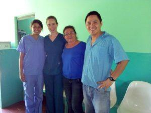 La Mora -- Alex, Leah, Dr. Orellana, and Yunior Gomez